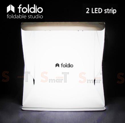 Foldio สตูดิโอถ่ายภาพ ขนาดพกพา ขนาด 10″ (ไฟ LED 2 เส้น)