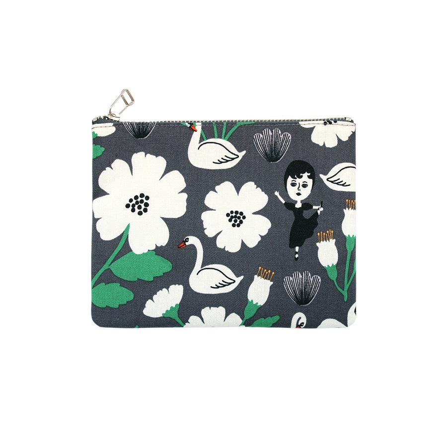 AURORE AND SWAN COATED POUCH M V2