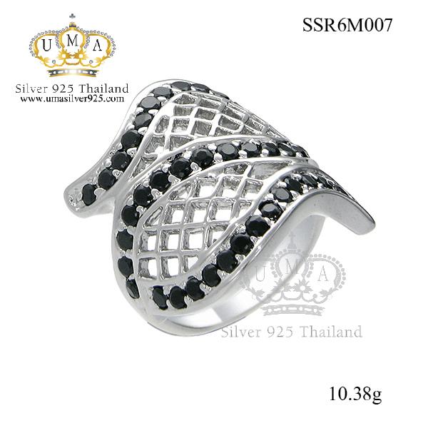 แหวนเพชร ประดับ เพชรCZ แหวนไขว้ฉลุโปร่ง ฝังเพชรแบบจิกไข่ปลา คลาสสิกสไตล์ เหมาะกับทุกไลฟ์สไตล์ของสาวๆทุกช่วงวัย