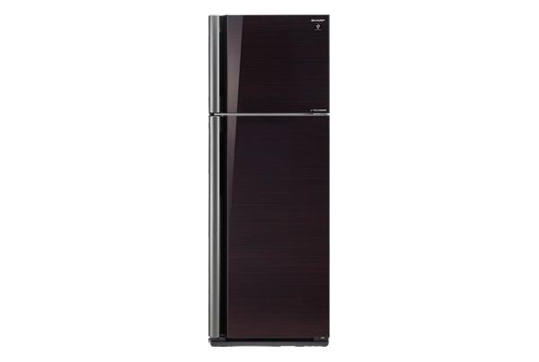 ตู้เย็น2D 14.4Q SHARP SJ-X44GP-BKกระจกดำ ราคาพิเศษสุด โทร 097-2108092