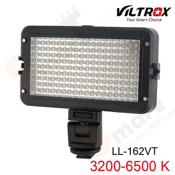 VILTROX LL-162VT Adjustable Color Temperature LED Light for Camcorder Camera