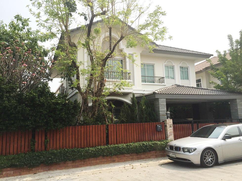 H594 บ้านเดี่ยว 64.1 ตร.วา ม.ภัสสร19 วัชรพล-วงแหวน ถนนจตุโชติ ใกล้มหาวิทยาลัยนอร์ทกรุงเทพ สภาพบ้านใหม่ ตกแต่งสวย พร้อมอยู่