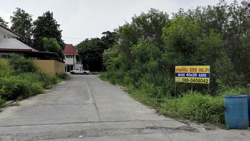 H65 ขาย ที่ดิน 258 ตร.วา ม.นฐดาธานี รังสิต-นครนายก62 (คลอง2) ที่สวย แปลงมุม ติดถนน 3ด้าน เหมาะปลูกบ้าน สุดซอยเป็นโรงเรียนอนุบาลวนิษา