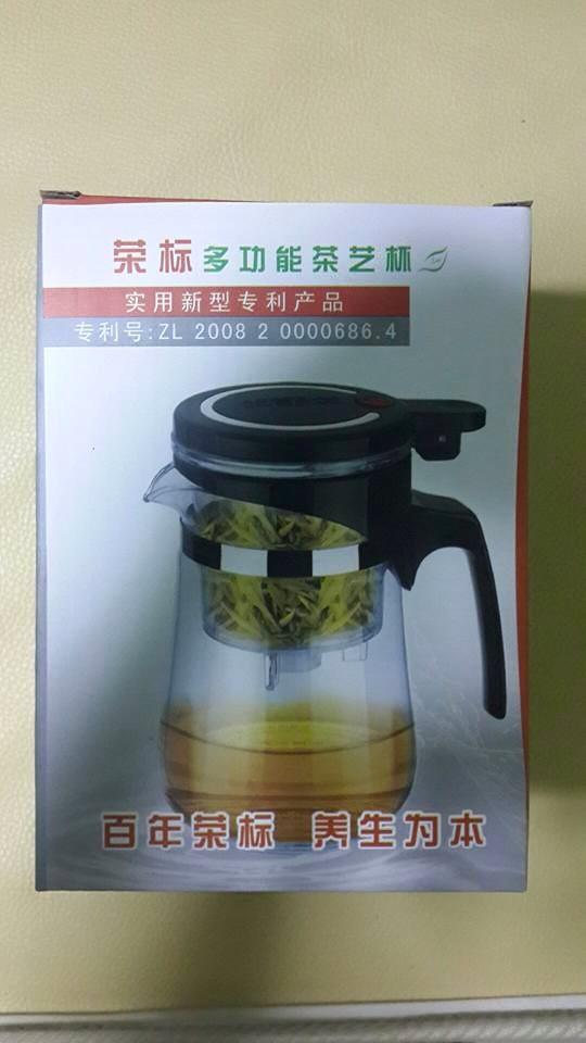 แก้วชงชา แบบสำเร็จรูป มีที่กรองในตัว 620 ML.แก้วใสอย่างดี แก้วหนาอย่างดี คุณภาพเท่ากับ KAMJOVE
