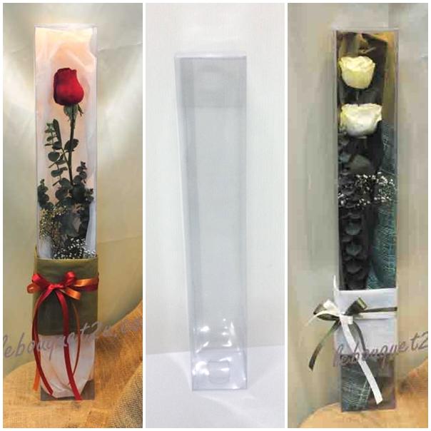 กล่องใส่ดอกไม้ 7.6 x 7.6 x 45.7 cm
