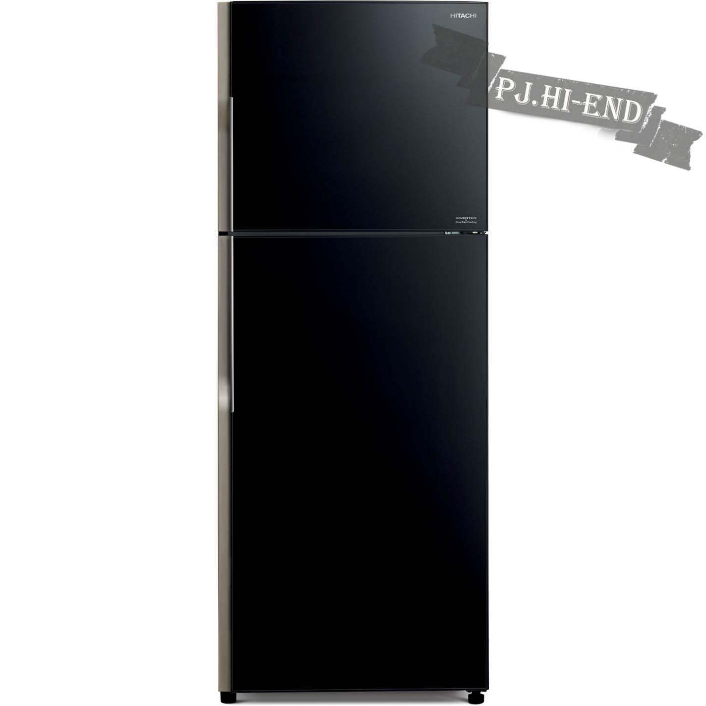 ตู้เย็น 2 ประตู 12.4คิว HITACHI รุ่น R-VG350PZ กระจกดำ