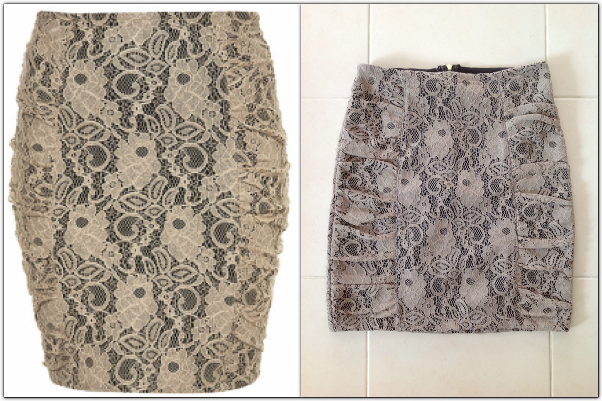 Topshop Lace skirt Size Uk8